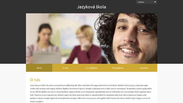 Jazyková škola tmavě žluttá šablona číslo 623
