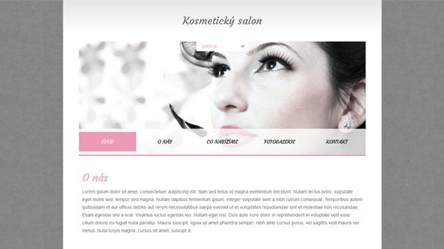 Kosmetický salon růžová šablona číslo 348