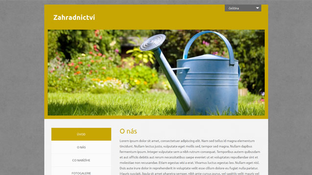 Zahradnictví tmavě žlutá šablona číslo 544