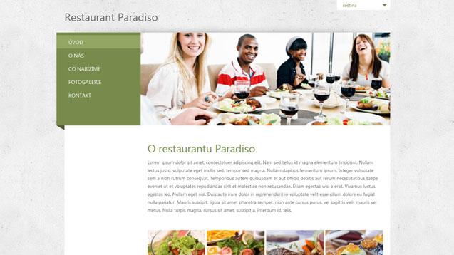 Restaurace zelená šablona číslo 240
