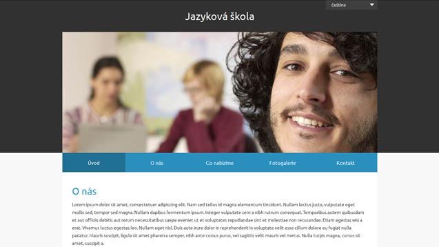 Jazyková škola modrá šablona číslo 631