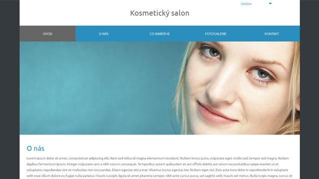 Kosmetický salon modrá šablona číslo 579