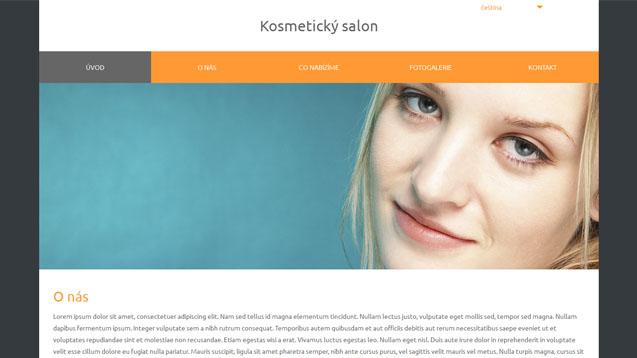 Kosmetický salon oranžová šablona číslo 580