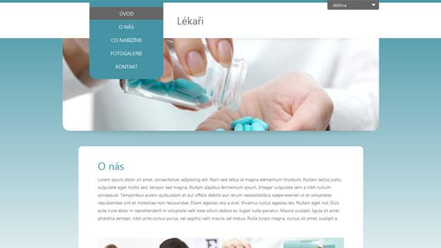 webmium šablona lékaři