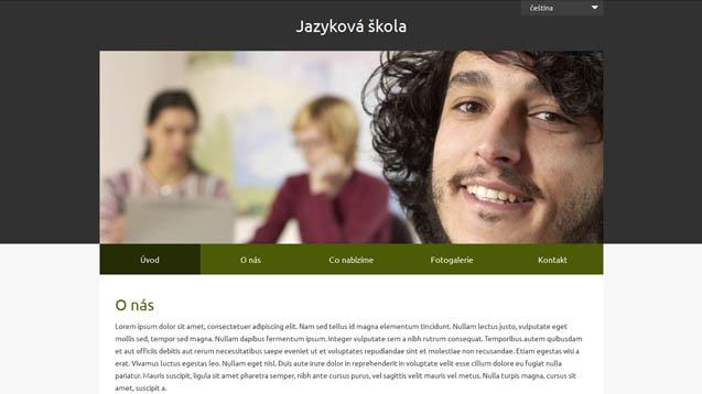Jazyková škola tmavě zelená šablona číslo 624