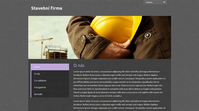 Stavební firma fialová šablona číslo 502