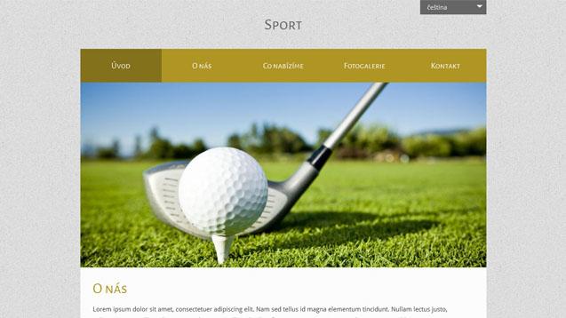 Sport tmavě žlutá šablona číslo 518