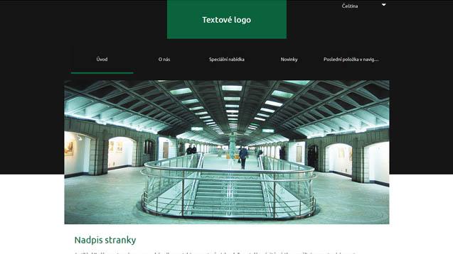 Architektura tmavě zelená šablona číslo 637
