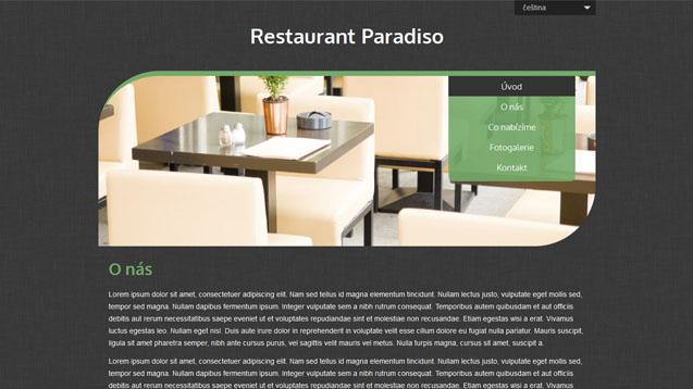 Restaurace zelená šablona číslo 504