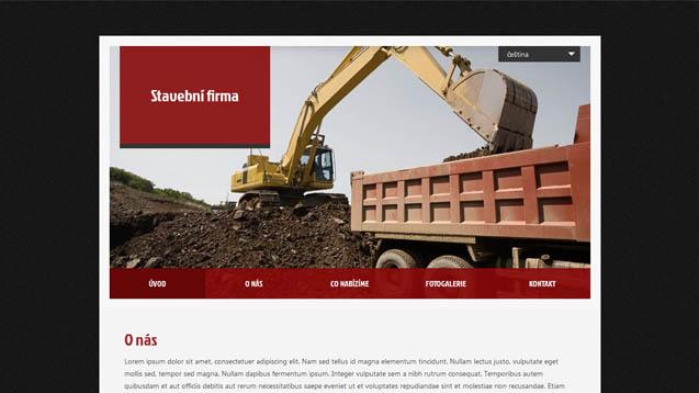 Stavební firma tmavě červená šablona číslo 410