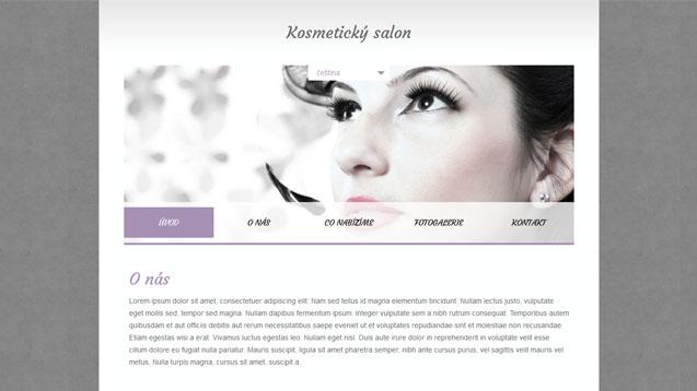 Kosmetický salon fialová šablona číslo 353