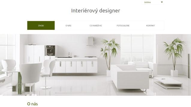 Interierový designer tmavě zelená šablona číslo 559