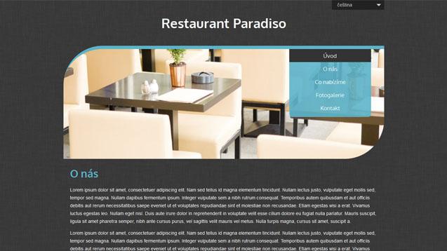 Restaurace tyrkysová šablona číslo 511