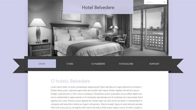 Hotel Belvedere fialová šablona číslo 264