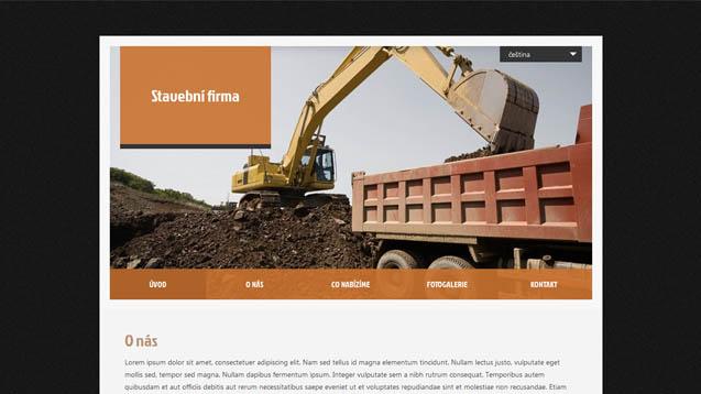 Stavební firma oranžová šablona číslo 417