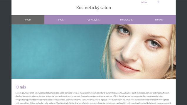 Kosmetický salon fialová šablona číslo 581