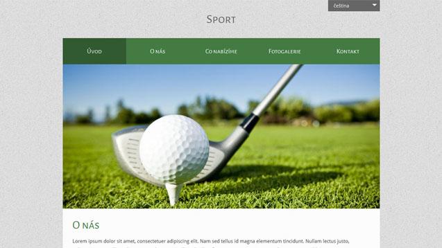 Sport tmavě zelená šablona číslo 519