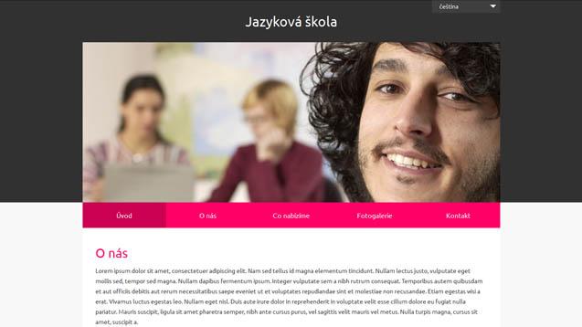 Jazyková škola růžová šablona číslo 628