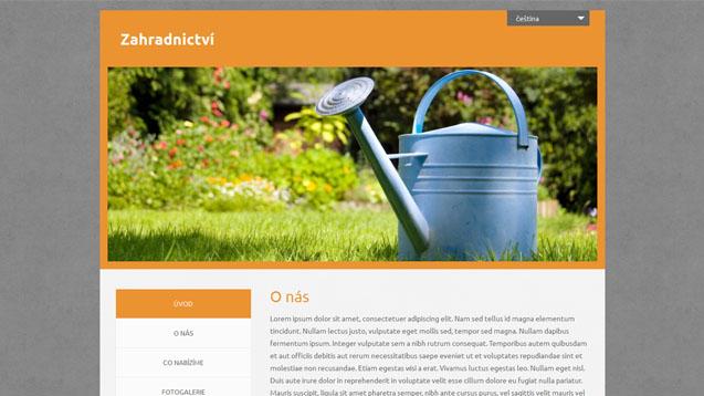 Zahradnictví oranžová šablona číslo 55č