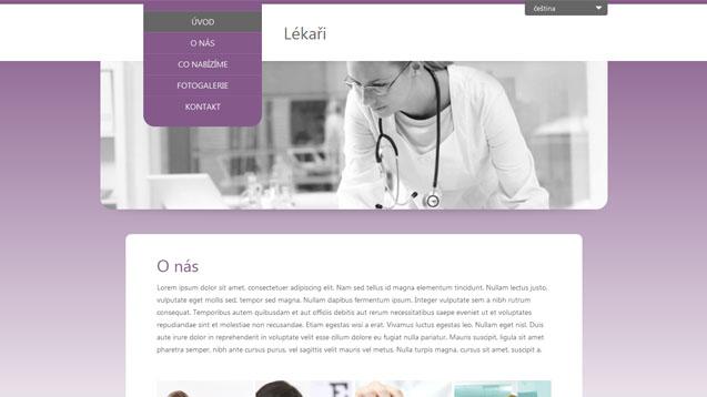 Lékaři fialová šablona číslo 278