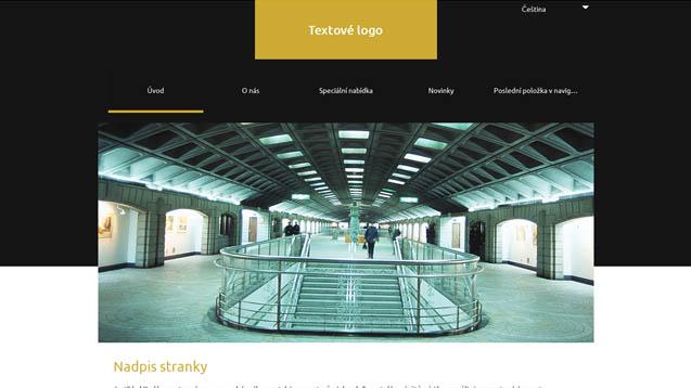 Architektura tmavě žlutá šablona číslo 636