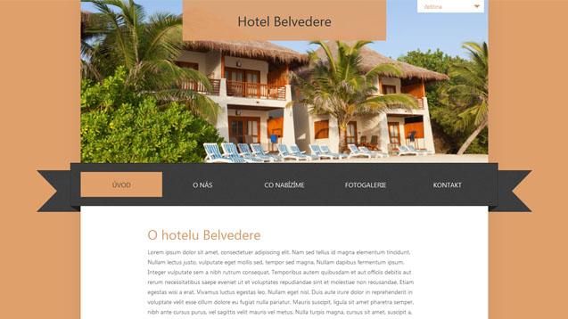 Hotel Belvedere oranžová šablona číslo 233