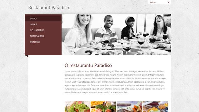 Restaurace tmavě červená šablona číslo 281