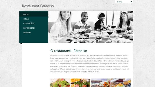 Restaurace tmavě zelená šablona číslo 279