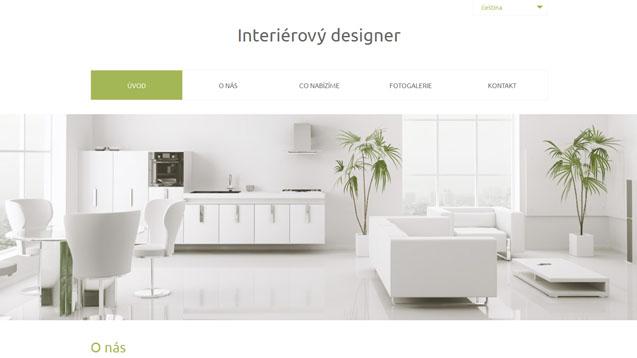 Interierový designer zelená šablona číslo 557