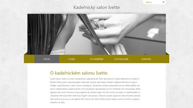 Kadeřnický salon Ivette tmavě žlutáá šablona číslo 251