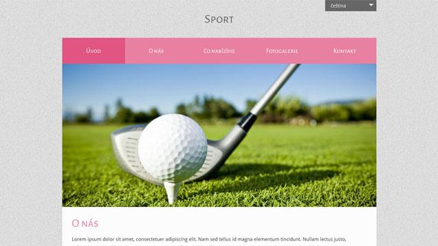 Sport růžová šablona číslo 523
