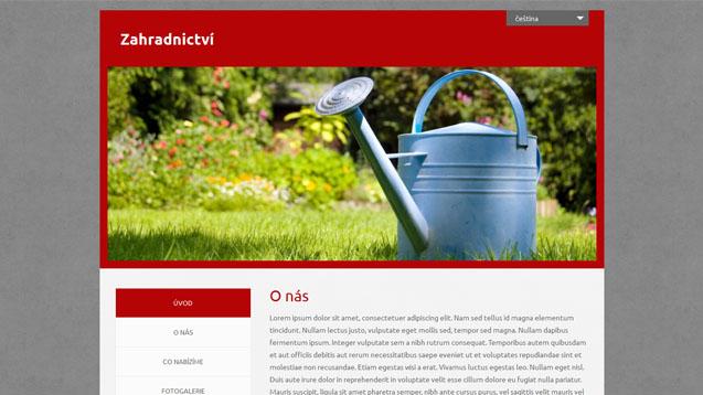 Zahradnictví červená šablona číslo 552