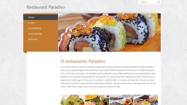 Restaurace oranžová šablona číslo 243