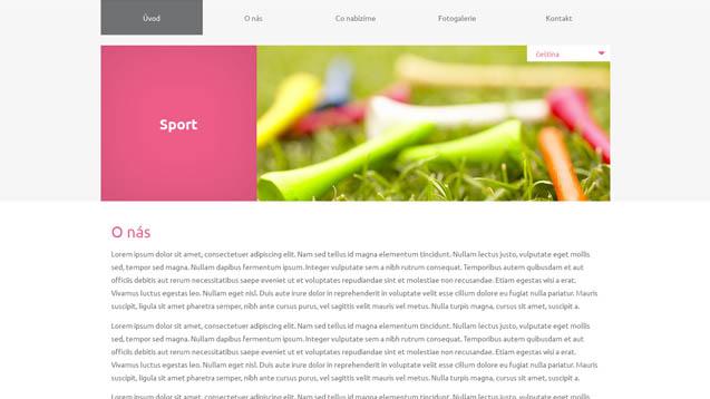 Sport růžová šablona číslo 615