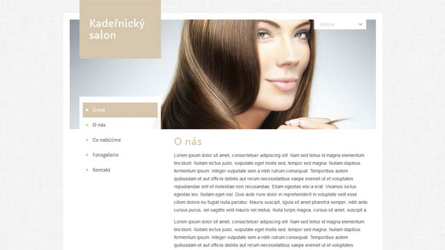 Webmium šablona kadeřnický salon