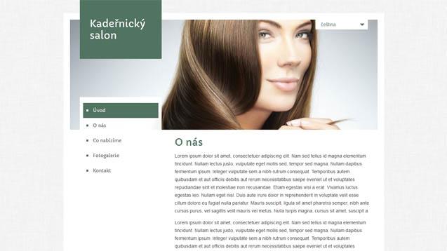 Kadeřnický salon tmavě zelená šablona číslo 454