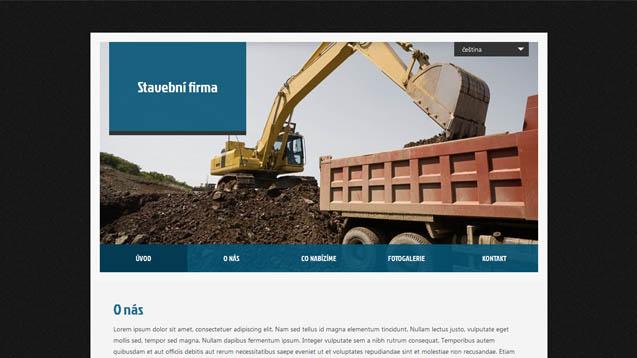 Stavební firma tmavě modrá šablona číslo 409