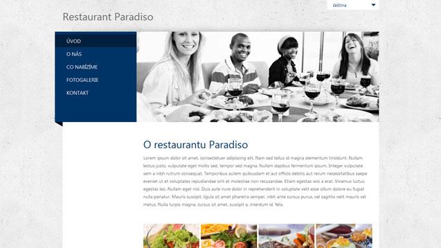 Restaurace tmavě modrá šablona číslo 280