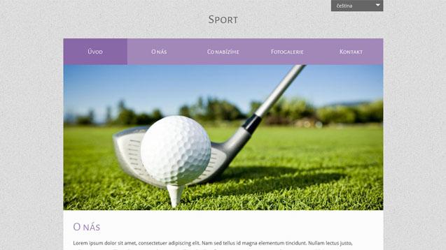 Sport fialová šablona číslo 528