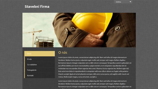 Webmium šablona stavební firma