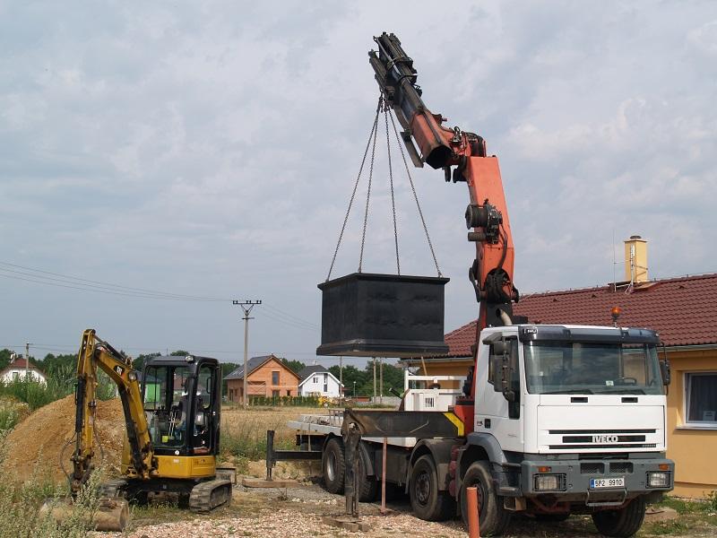 betonové jímky a ČOV TRIALASTAV Plzeň