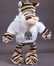 Velký plyšák - tygr sibiřský s trikem