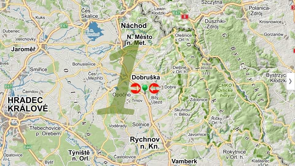Mapa pro plánování cyklotras, turistických tras (1)