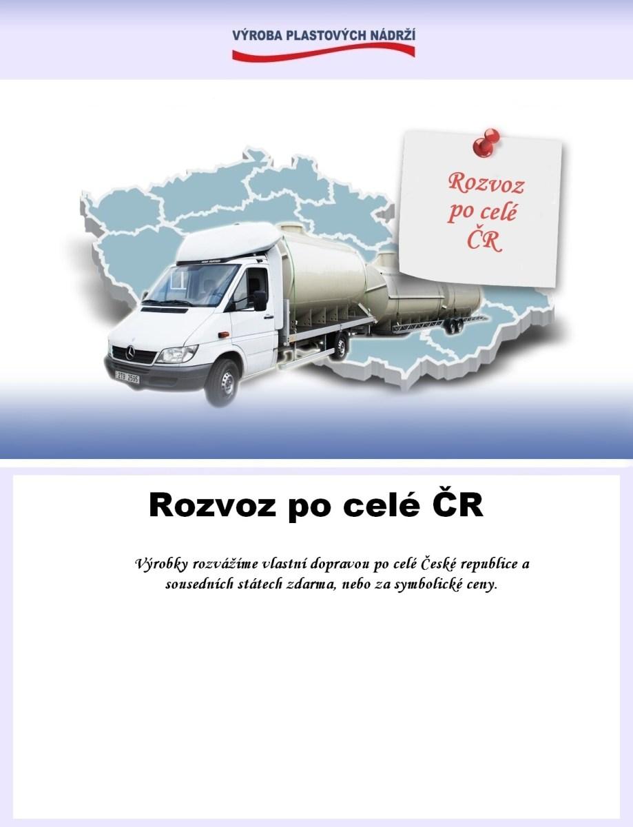 rozvoz po celé ČR zdarma