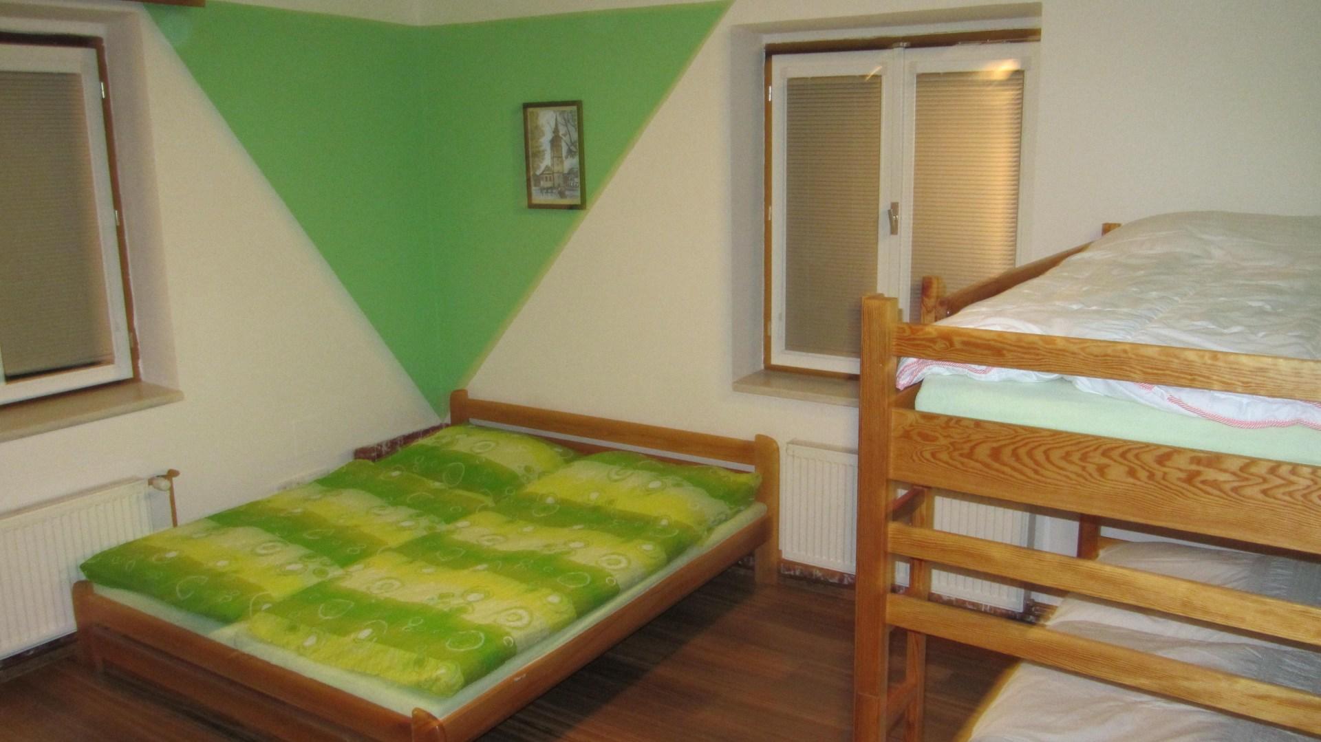 Penzion Karafiátova studánky - zelený pokoj