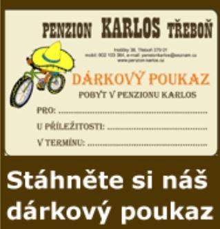 Penzion Karlos Třeboň dárkový poukaz