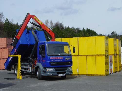 DAF - přeprava sypkých materiálů