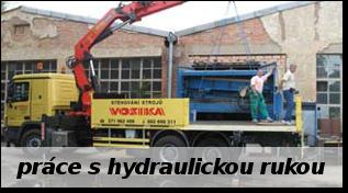 Vosika - prace s hydraulickou rukou