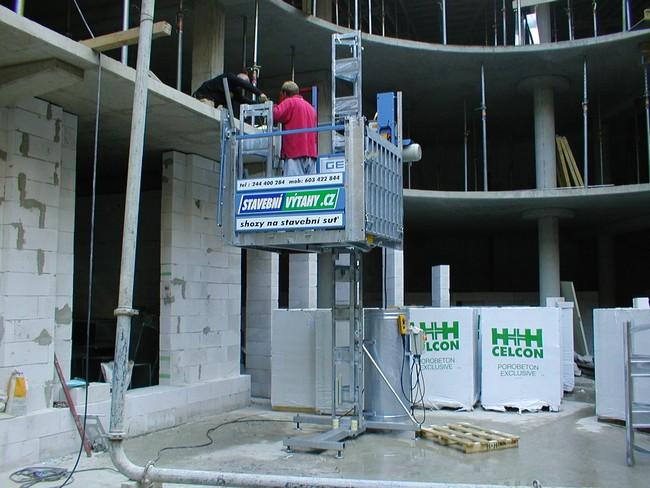 Stavební výtahy - pronájem, půjčovna