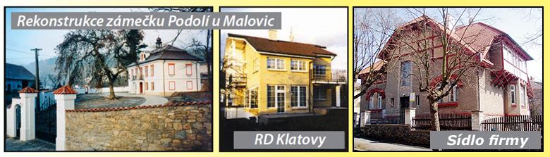 Pácl - Rekonstrukce zámečku Podolí u Malovic